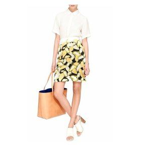 Opening Ceremony Skirt Pencil Daisy Leaf Print S